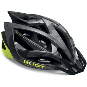 Rudy Project Airstorm MTB Casco, titanium/yellow fluo camo